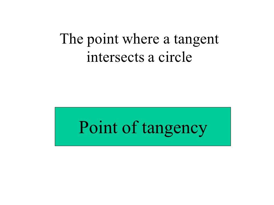 The point where a tangent intersects a circle