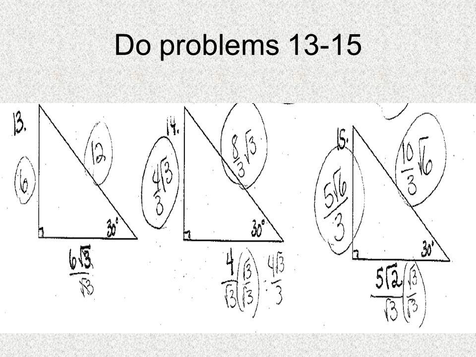 Do problems 13-15
