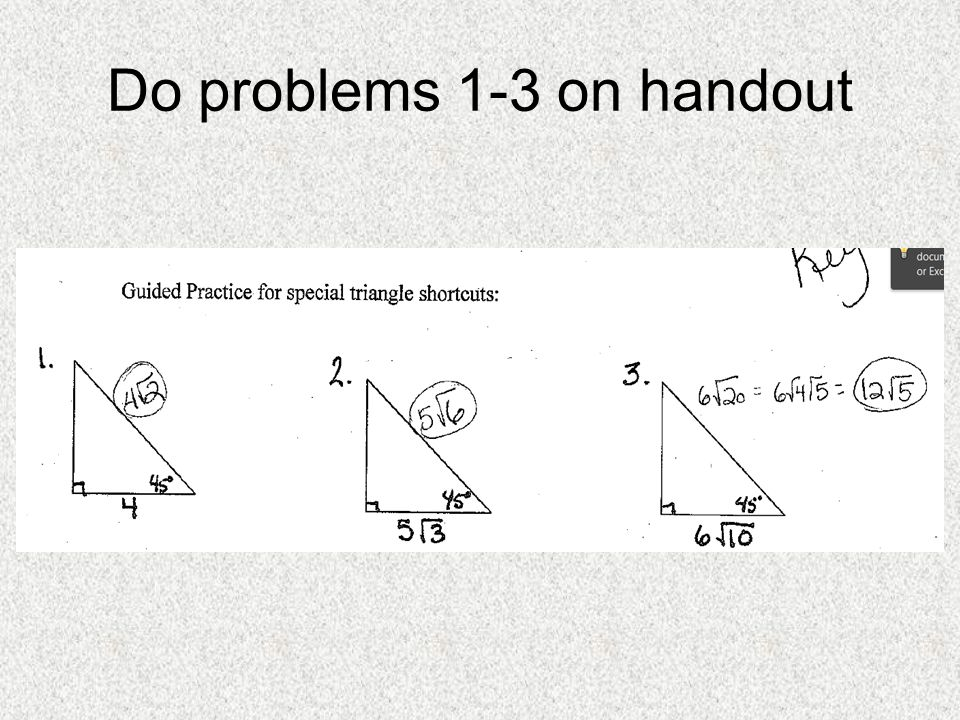 Do problems 1-3 on handout