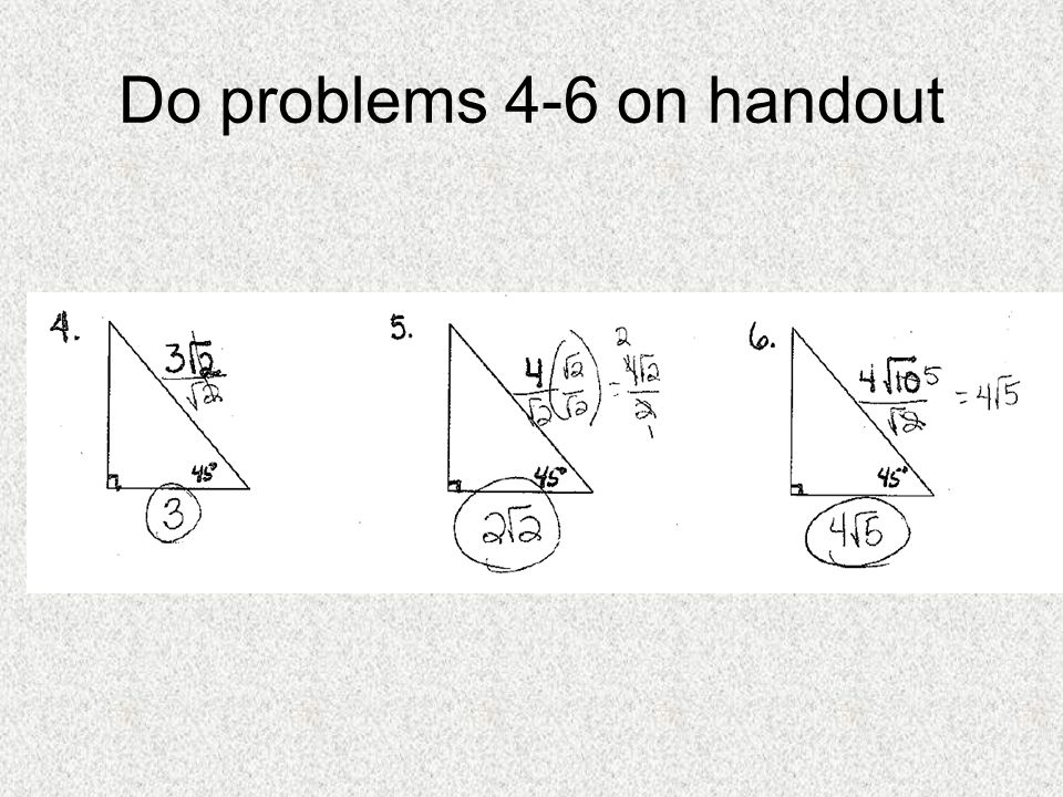Do problems 4-6 on handout