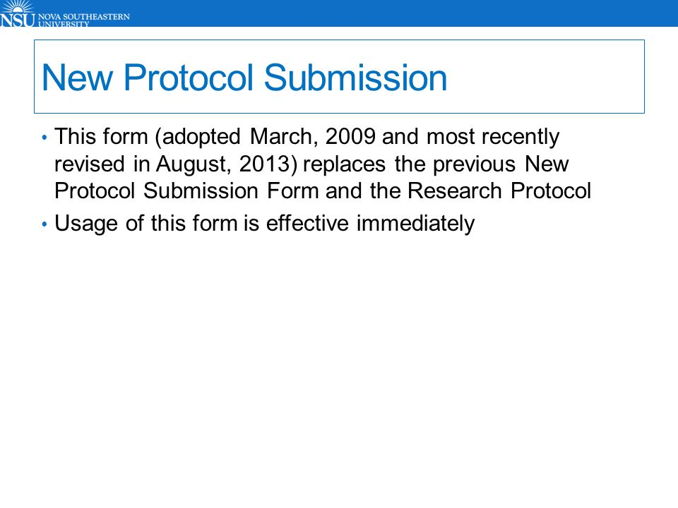 Thesis protocol submission form