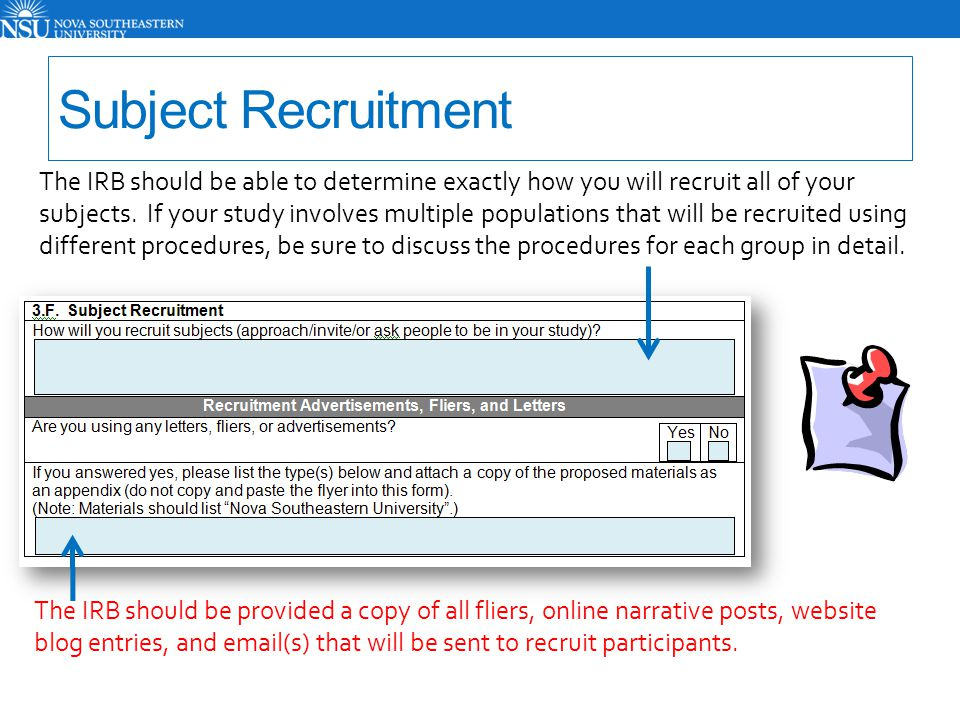 Subject Recruitment