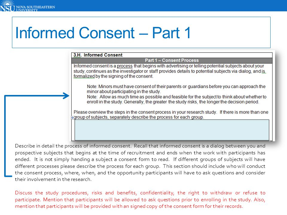 Informed Consent – Part 1