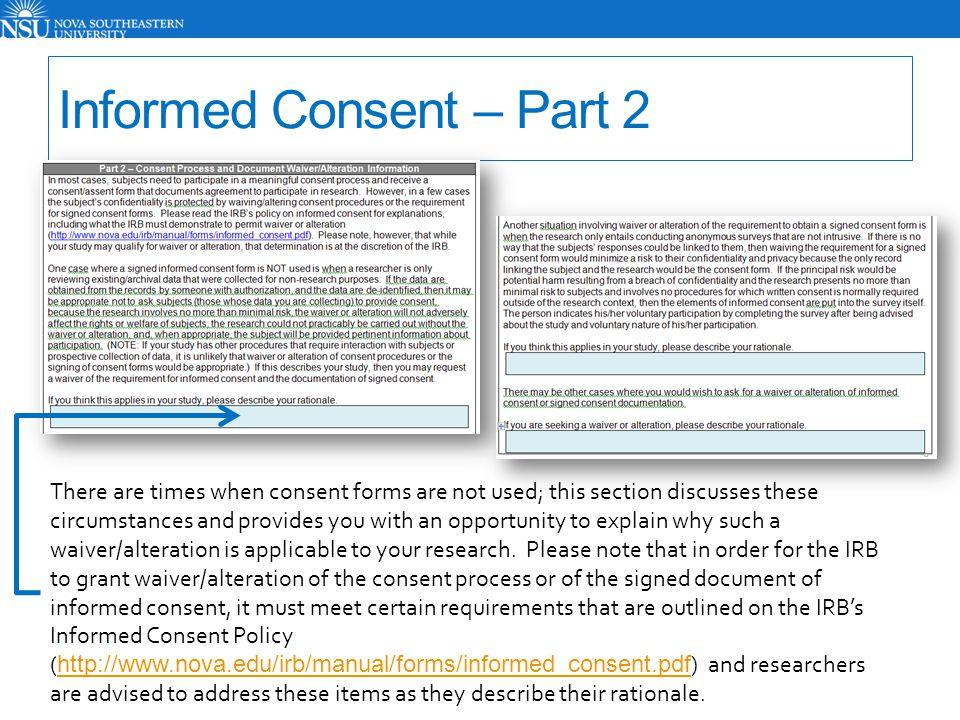 Informed Consent – Part 2