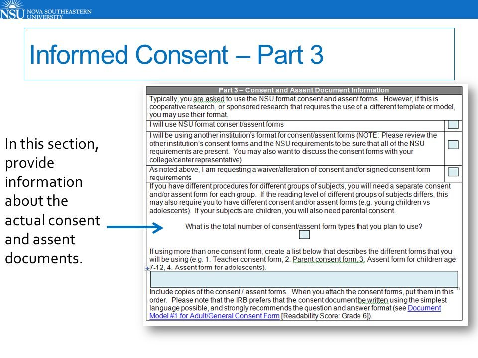 Informed Consent – Part 3