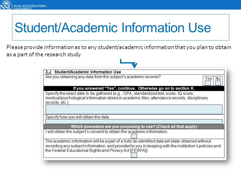 Student/Academic Information Use