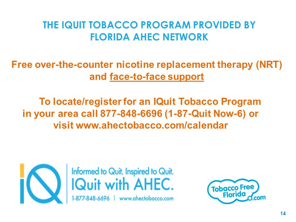 THE IQUIT TOBACCO PROGRAM PROVIDED BY