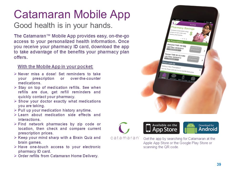 Catamaran Mobile App Good health is in your hands.