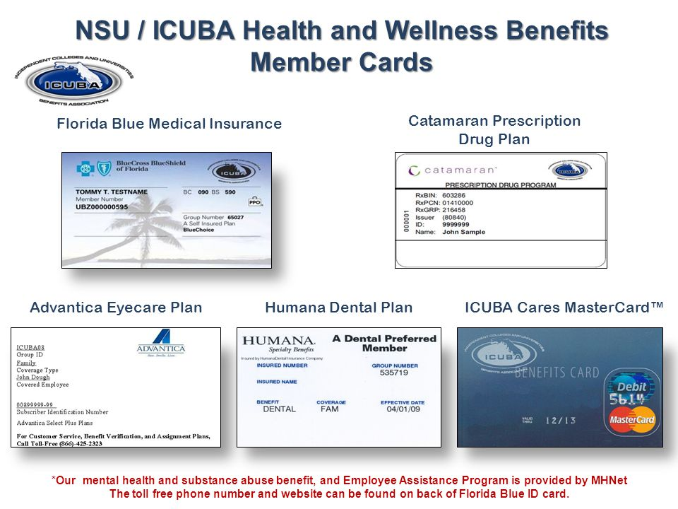 NSU / ICUBA Health and Wellness Benefits Member Cards