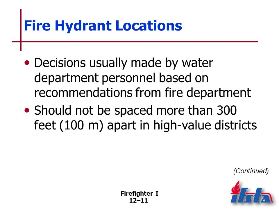 Fire Hydrant Locations