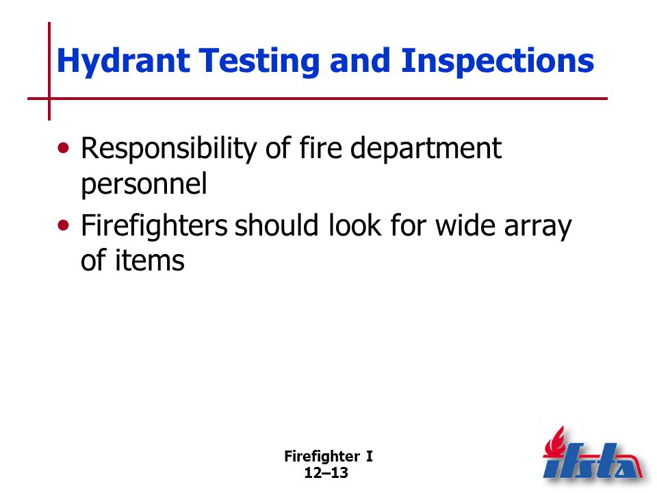 Fire Hydrant Testing Process