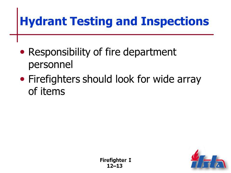 Fire Hydrant Testing Process