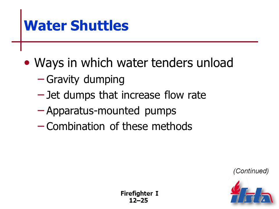 Water Shuttles