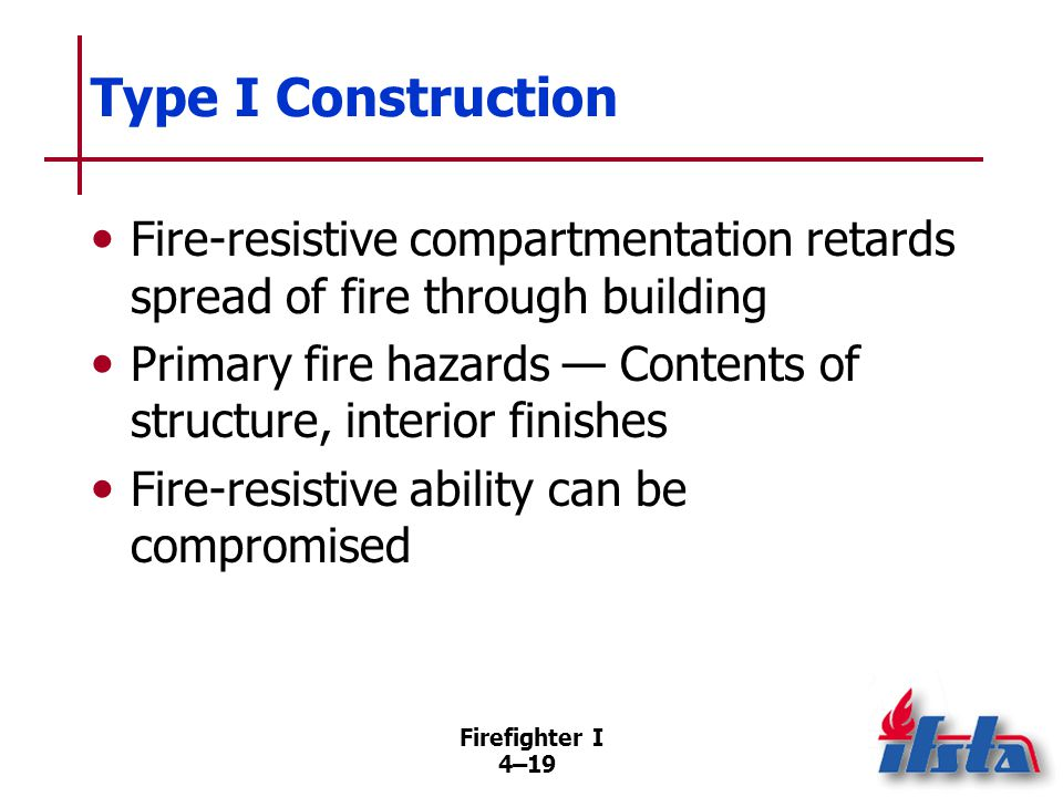 Type II Construction Similar to Type I except structural components lack insulation. Fire-resistance rating on all parts of structure.