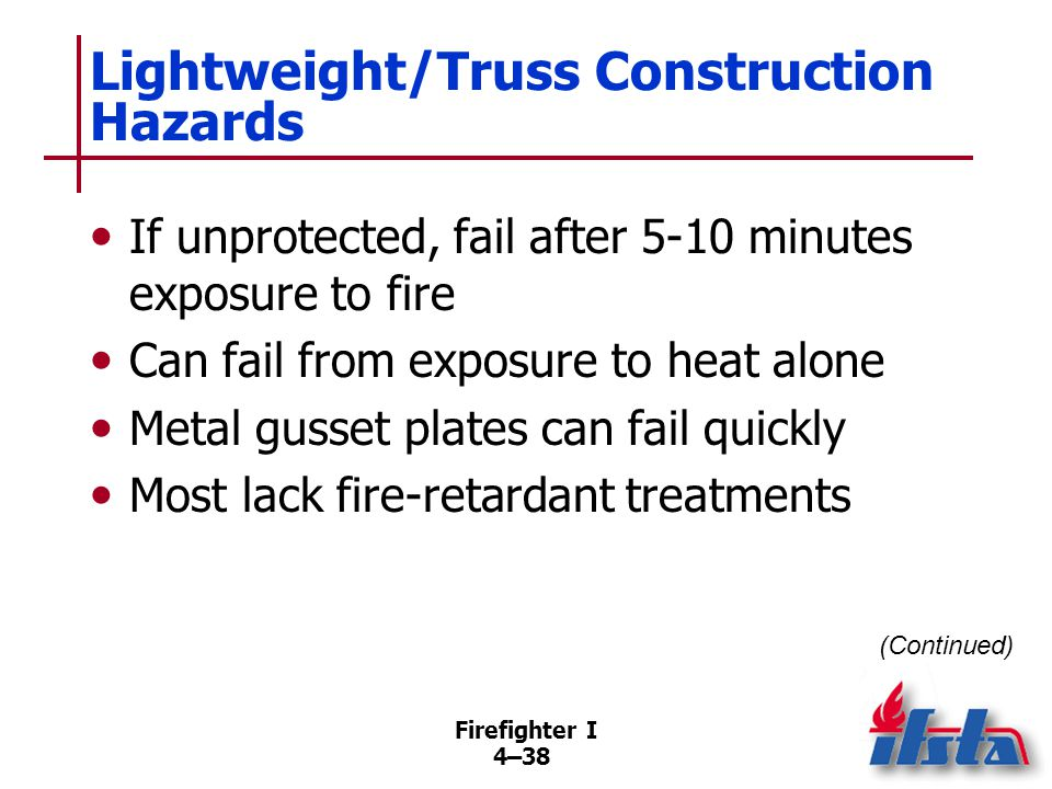 Lightweight/Truss Construction Hazards