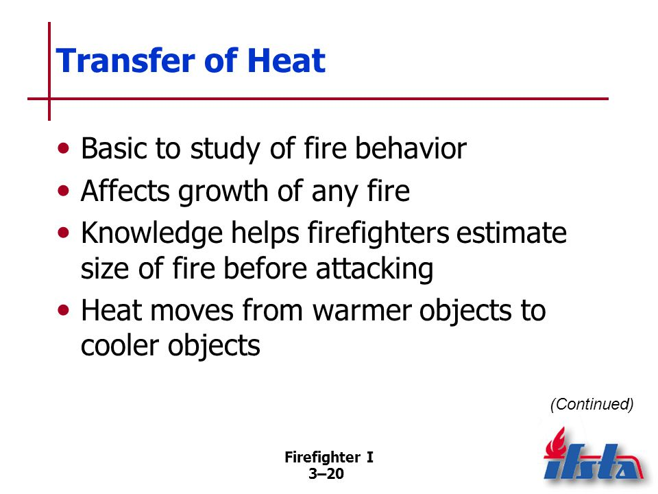 Transfer of Heat Rate related to temperature differential of bodies and thermal conductivity of material.