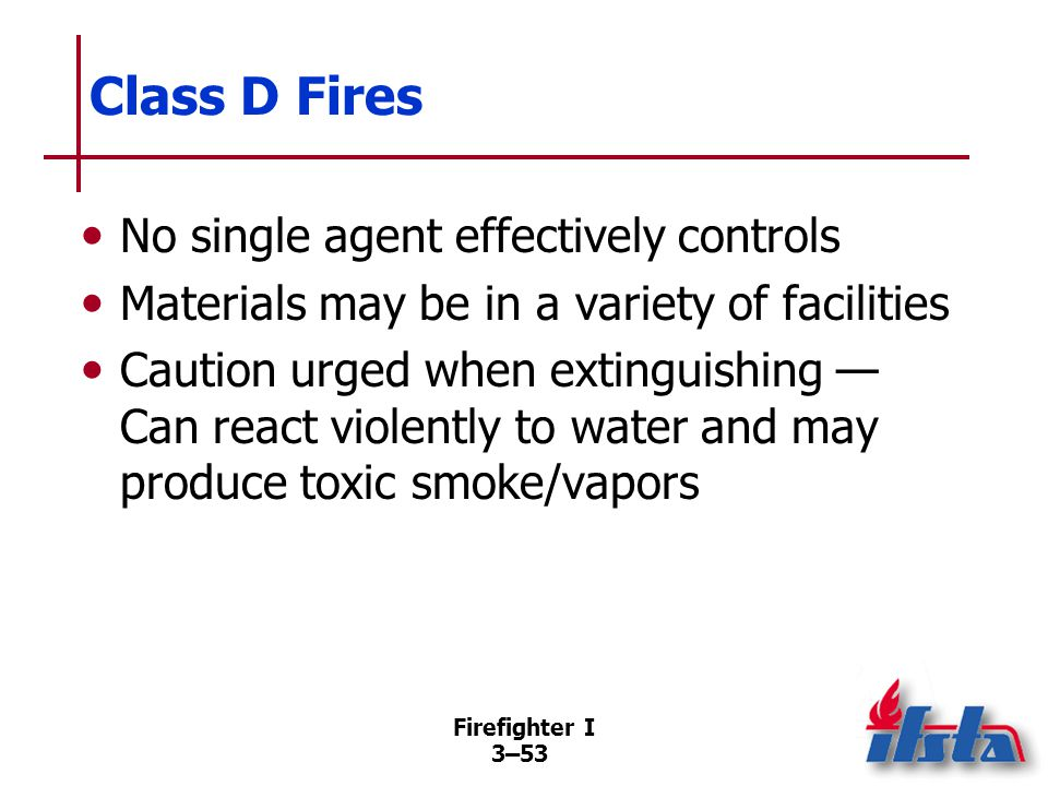 Class K Fires Involve oils and greases