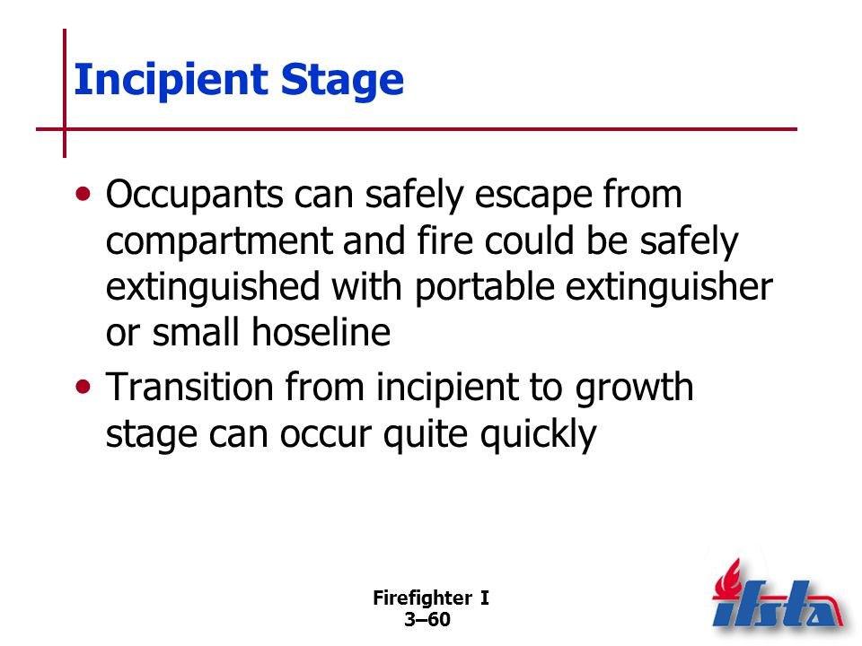 Growth Stage Fire begins to influence environment within compartment