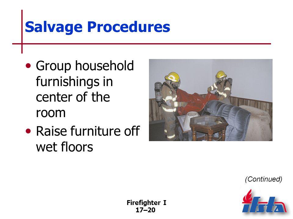 Salvage Procedures Commercial occupancies present special challenges