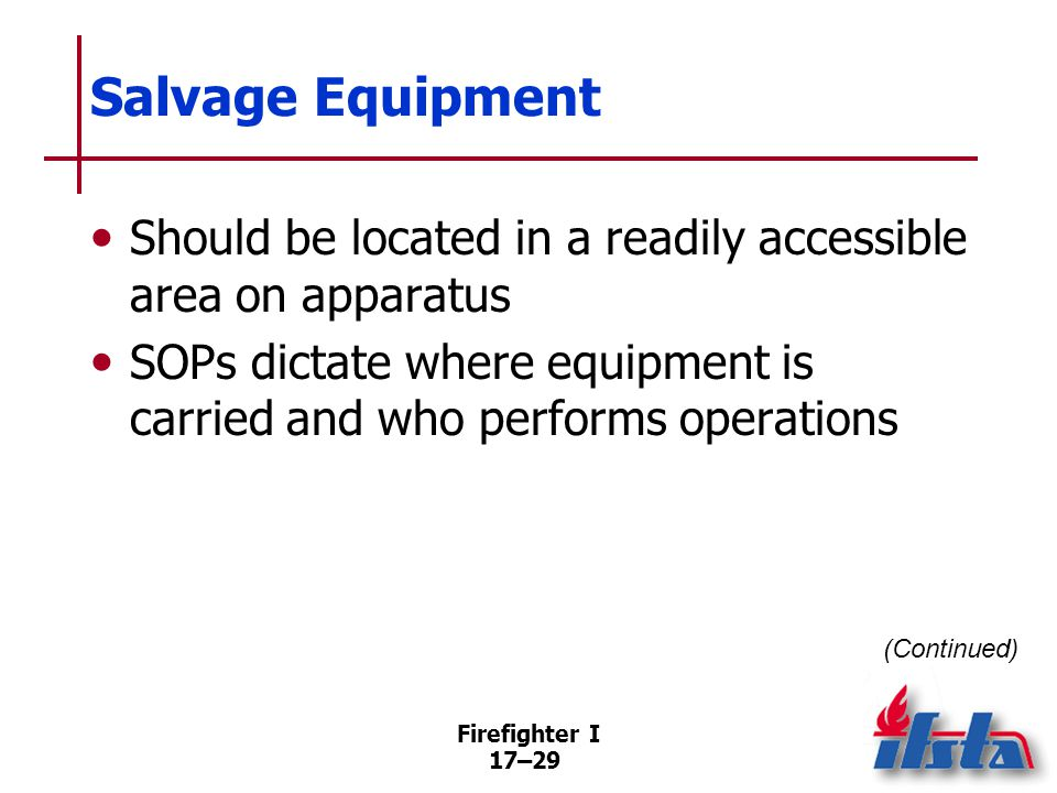Salvage Equipment Keep smaller tools/equipment in a salvage toolbox