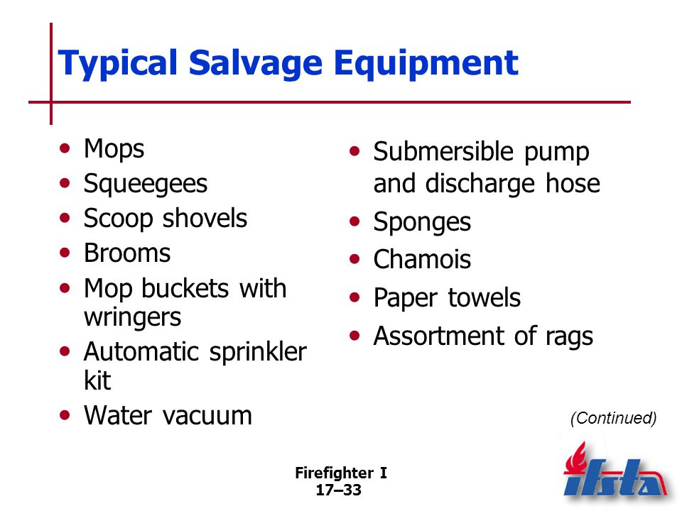 Typical Salvage Equipment