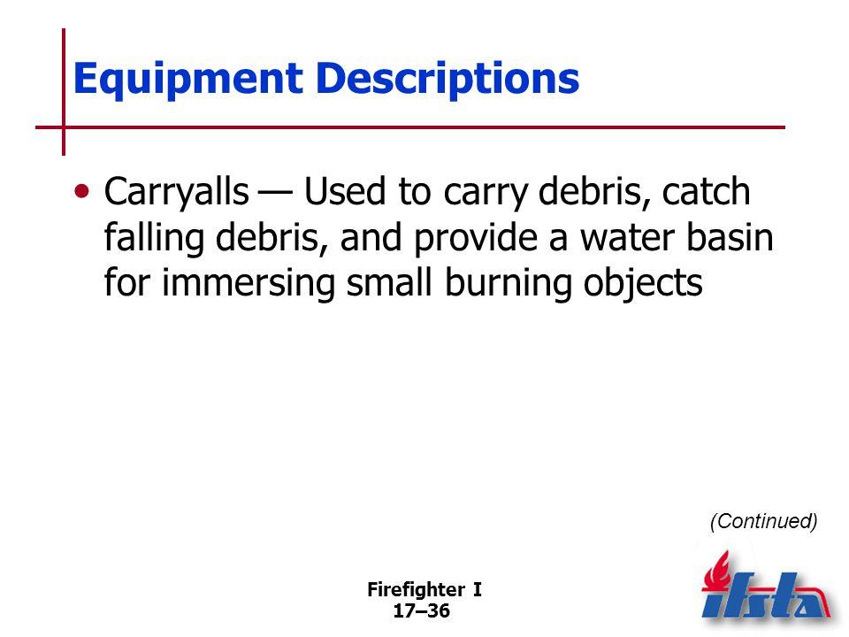 Equipment Descriptions