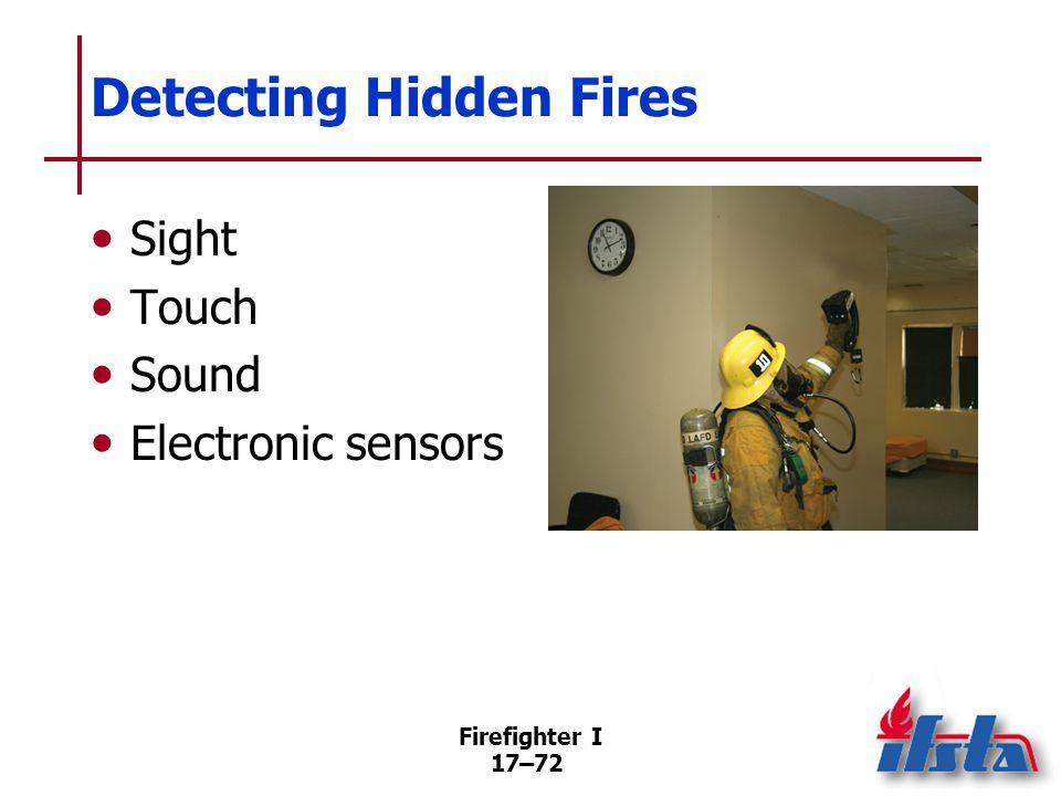 Overhaul Procedures Begins in the area of most severe fire involvement