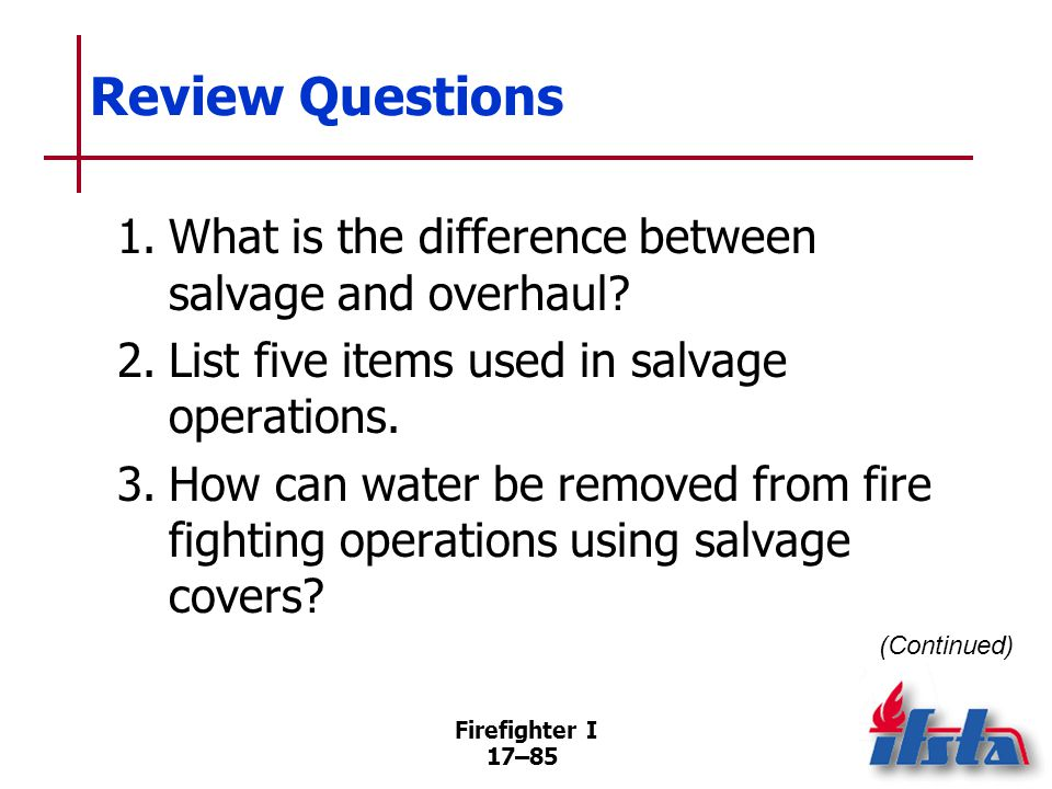 Review Questions 4. When should overhaul start