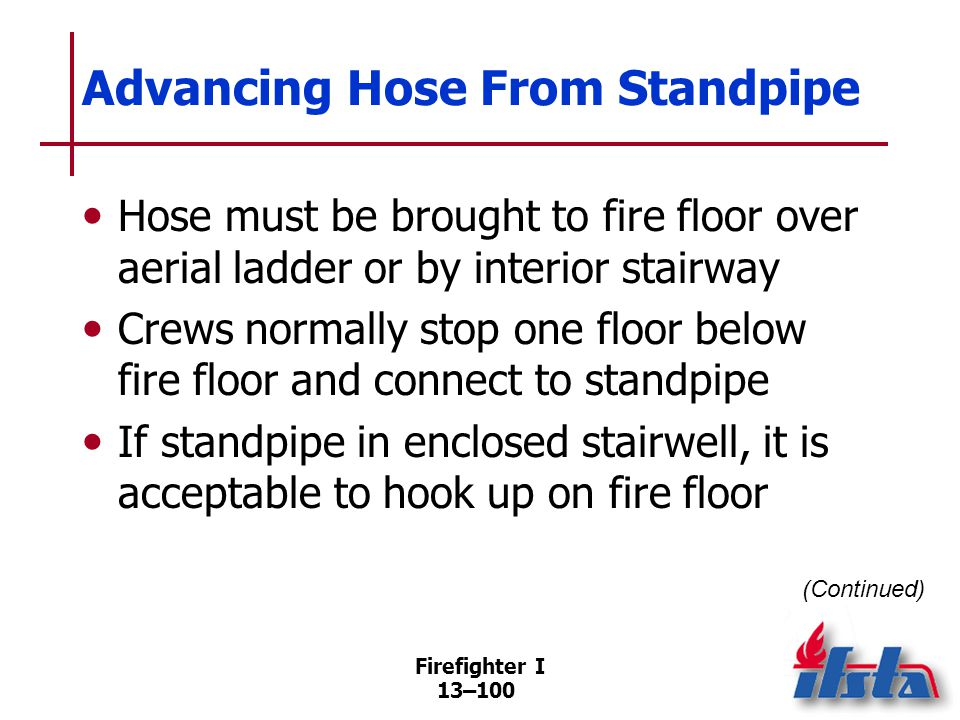 Advancing Hose From Standpipe