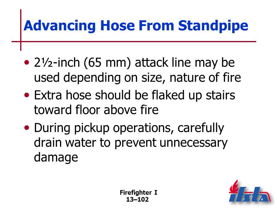 Advancing Hose Up Ladder