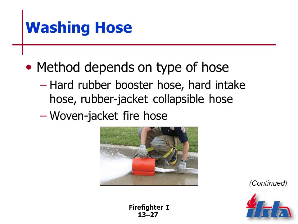 Washing Hose When jacket exposed to oil