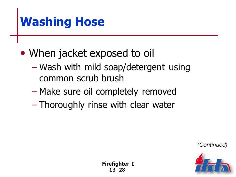 Washing Hose Hose washing machines Can make care, maintenance easier