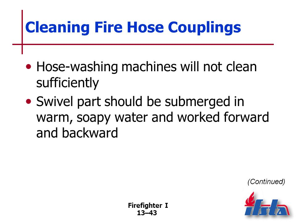 Cleaning Fire Hose Couplings