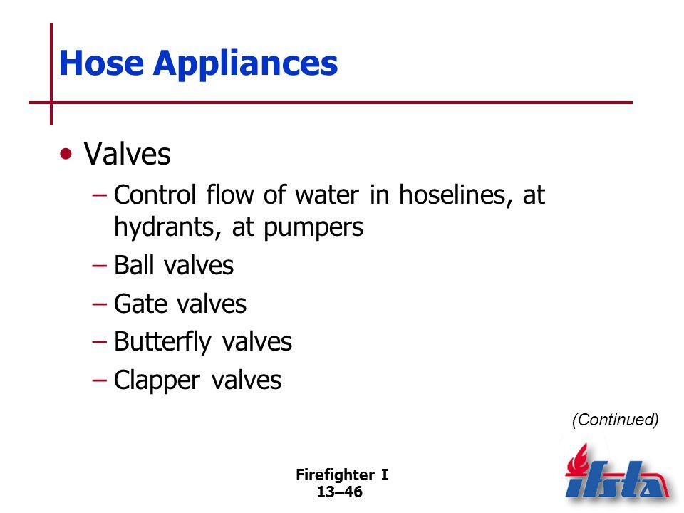 Hose Appliances Valve devices