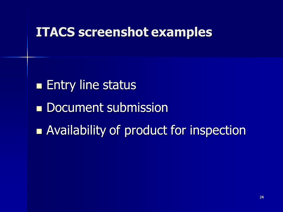 ITACS screenshot examples