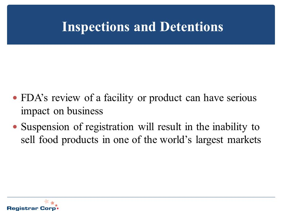Inspections and Detentions