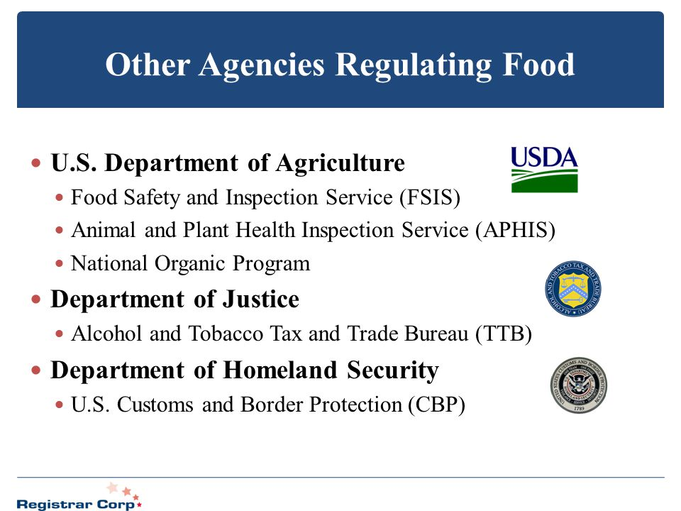 Other Agencies Regulating Food