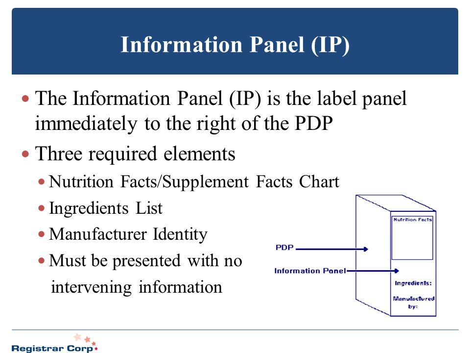 Information Panel (IP)