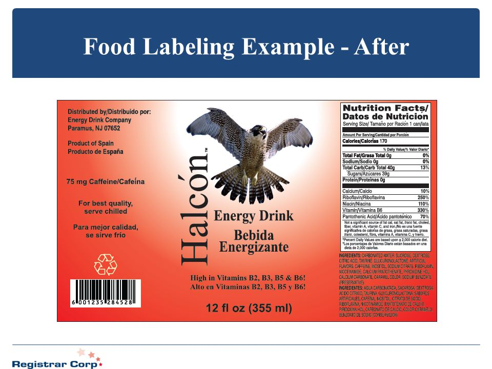 Food Labeling Example - After