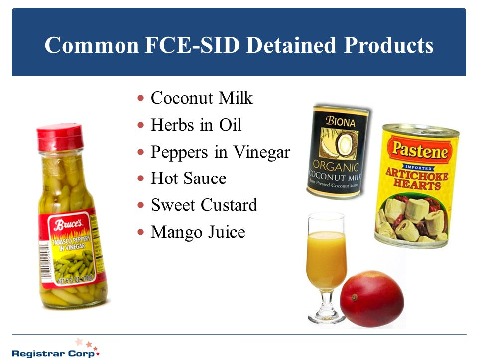 Common FCE-SID Detained Products