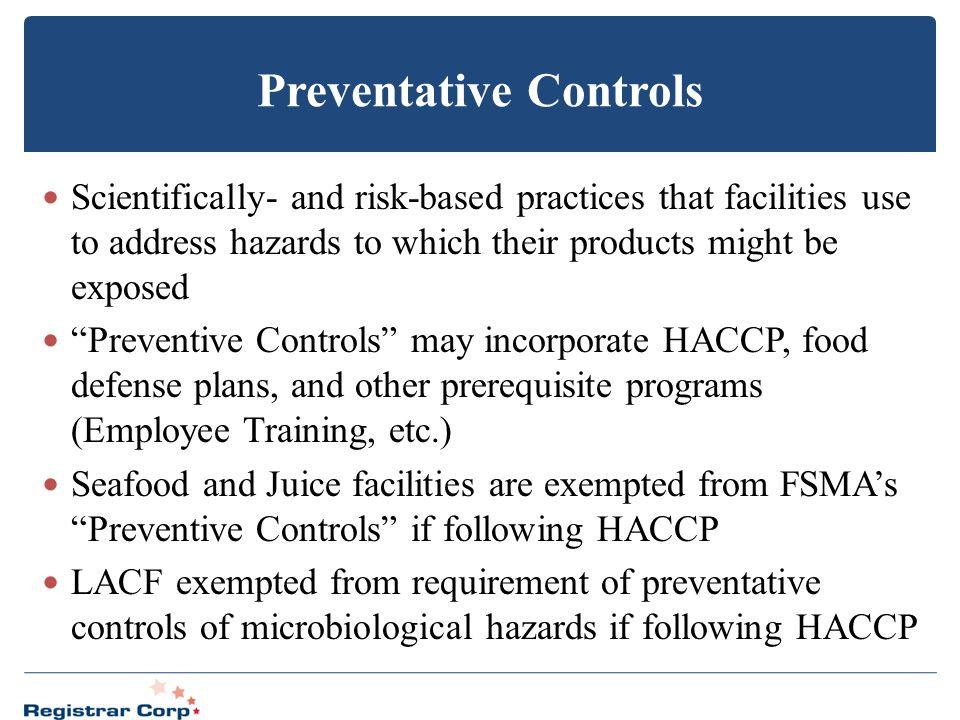 Preventative Controls