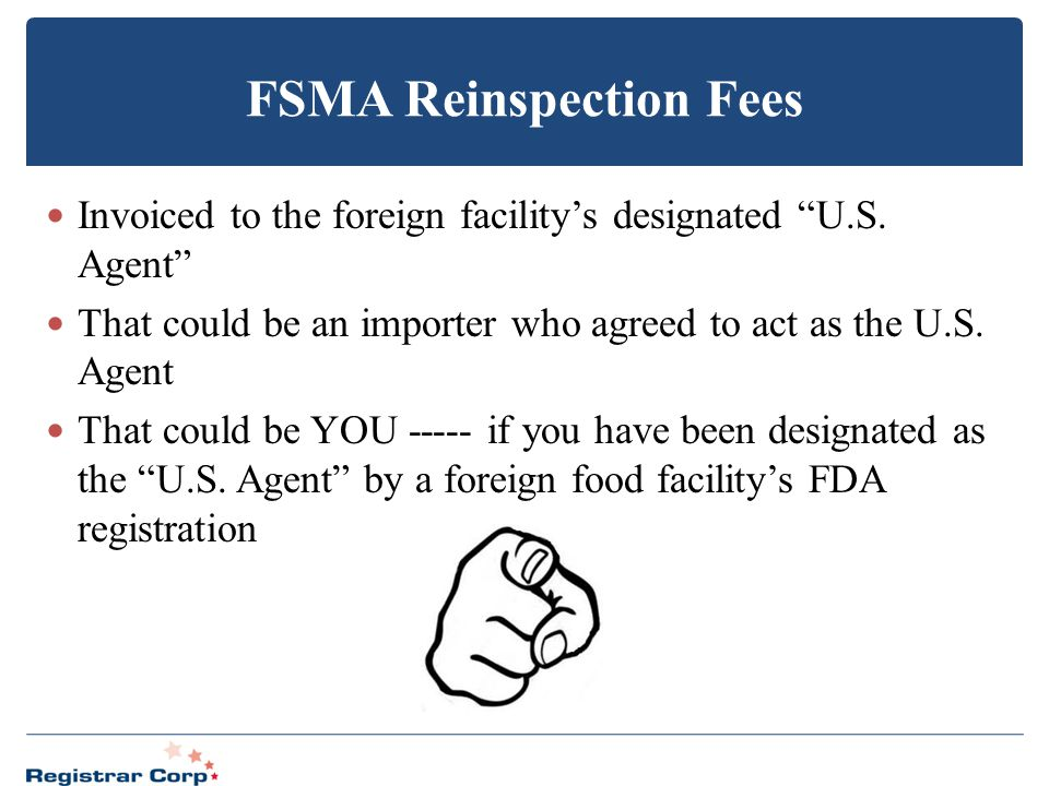 FSMA Reinspection Fees
