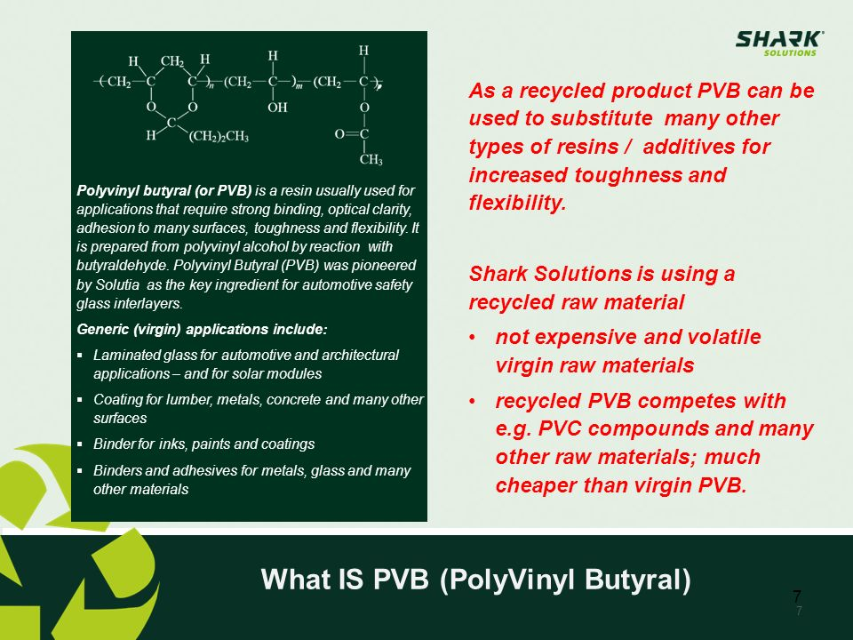 What IS PVB (PolyVinyl Butyral)