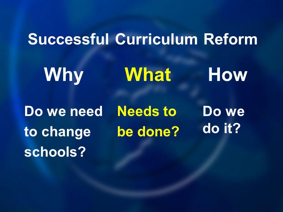 Successful Curriculum Reform