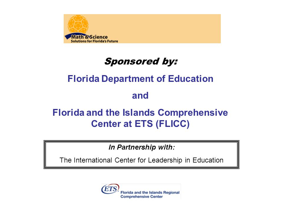 Florida Department of Education and