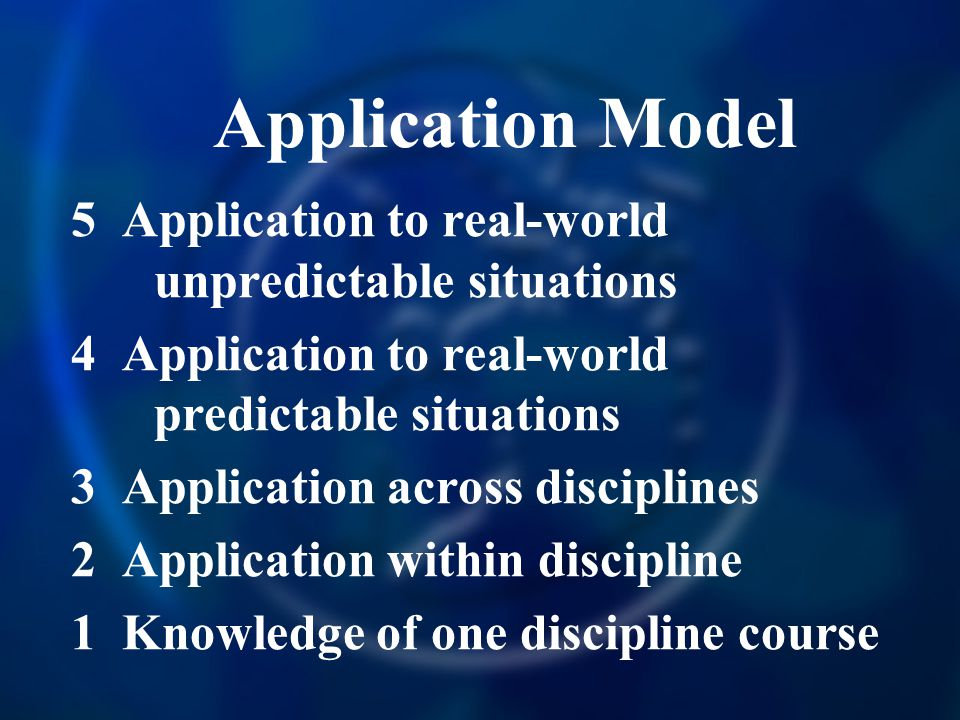 Application Model 5 Application to real-world unpredictable situations