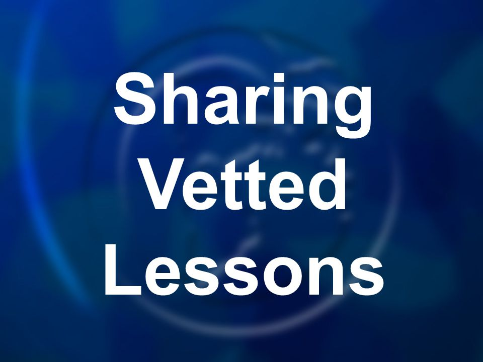 Sharing Vetted Lessons
