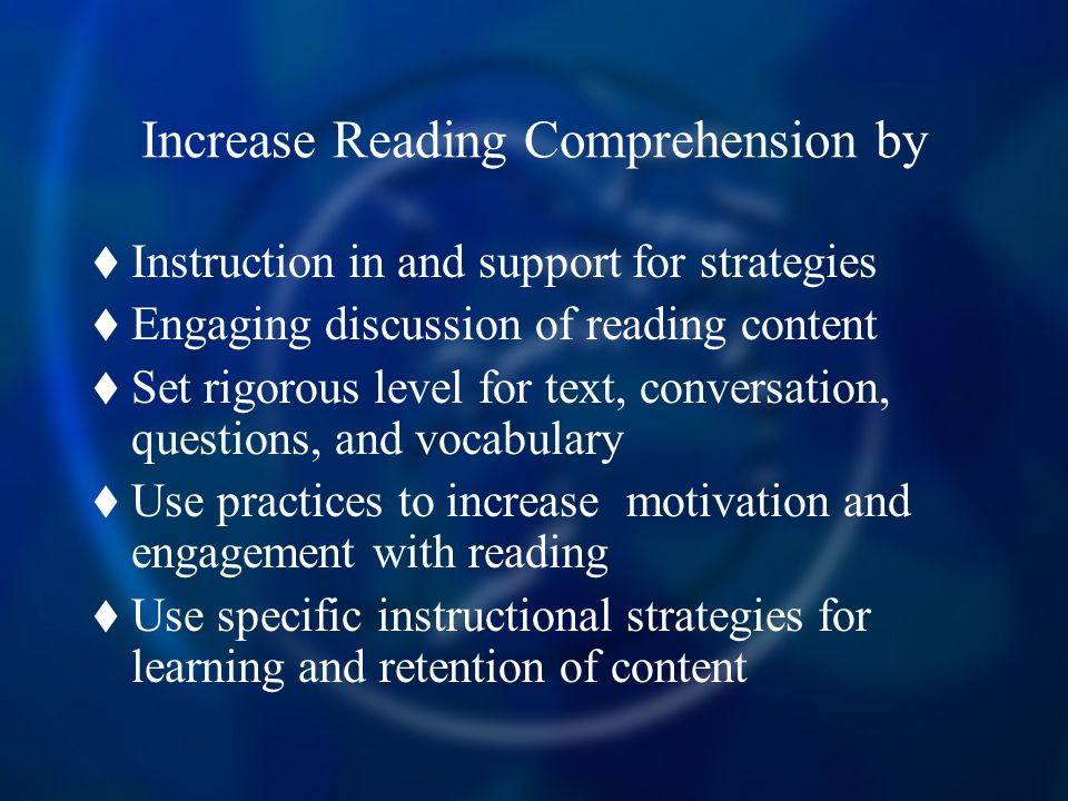 Increase Reading Comprehension by