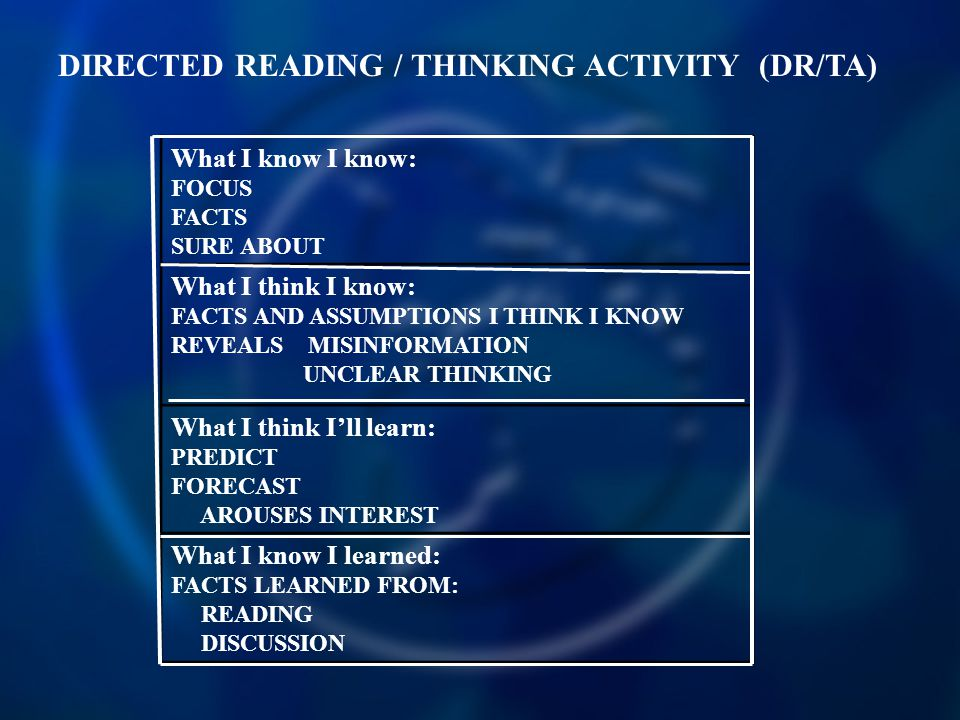 DIRECTED READING / THINKING ACTIVITY (DR/TA)