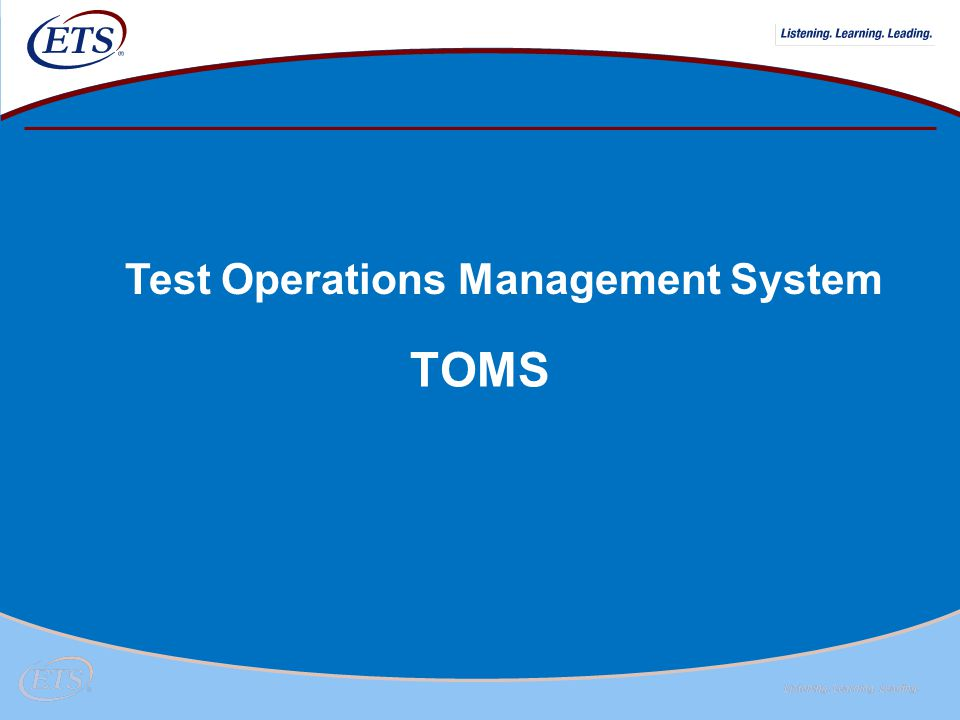 Test Operations Management System
